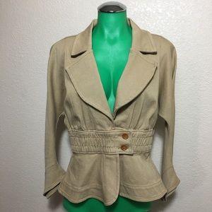 Judy Rosen Jackets & Coats - Judy Rosen Tan Jacket Button Size Medium